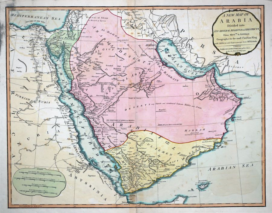 Antique maps tooley adams a new map of arabia gumiabroncs Image collections